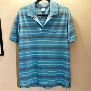 Brooks Brothers Blue Striped Polo